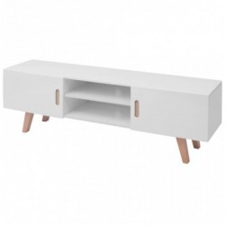 Mueble para TV MDF 150x35x48,5 cm blanco brillante